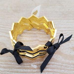 Gold and blue bracelet